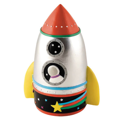 Rocket Resin Money Bank