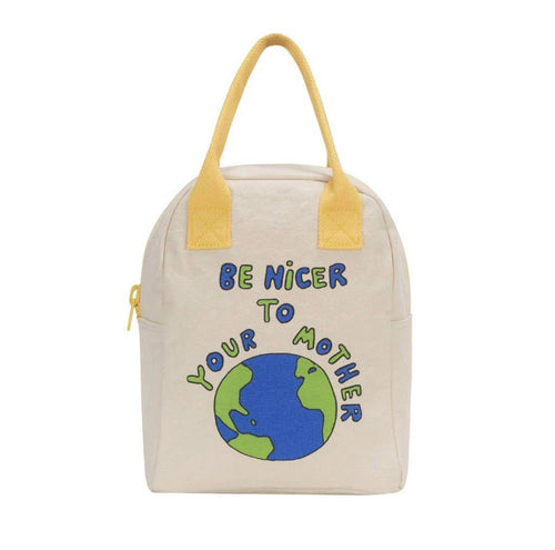 Be Nice zipper lunch bag