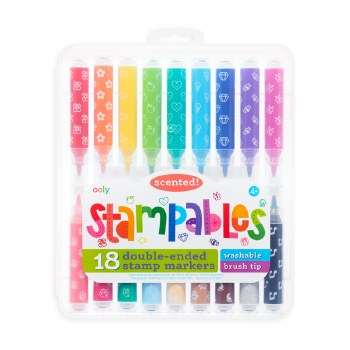 Stampables Scented Double- Ended Stamp Markers- Set of 18