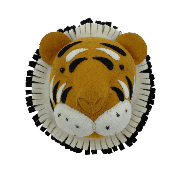 Mini Tiger Wall Head Fiona Walker Lemon Drop Children's Shop - Lemon Drop Children's Shop