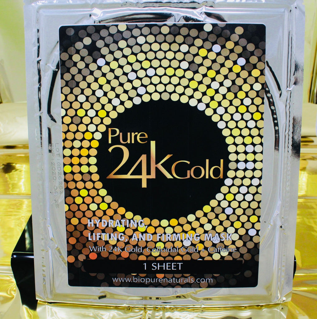 Pure Gold 24k Anti-Aging Facial Sheet Mask