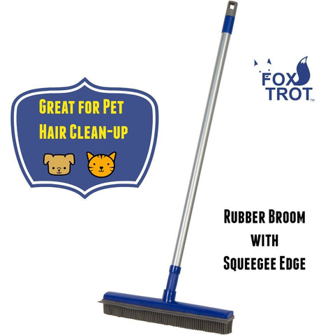 FUR BUSTER Rubber Broom With Squeegee