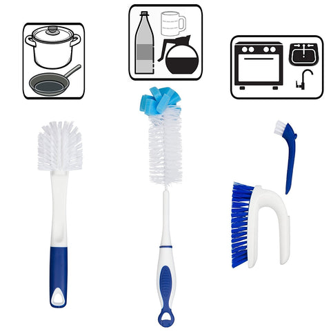 Kitchen Cleaning Tools Set - 4 Brushes Total