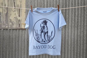 Kids Bayou Dog T-Shirt (Light Blue) - The Louisiana Catahoula Catalog, Inc. Kids Bayou Dog T-Shirt (Light Blue) - The Catahoula Shop