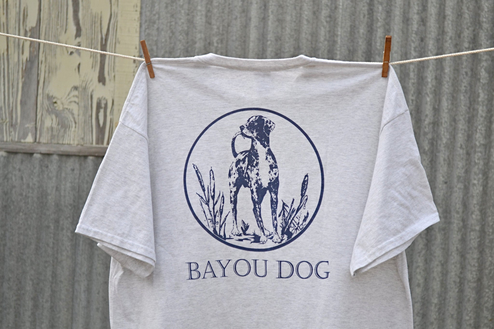 Bayou Dog T-Shirt (Ash Gray) - The Louisiana Catahoula Catalog, Inc. Bayou Dog T-Shirt (Ash Gray) - The Catahoula Shop