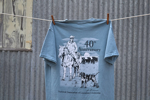 40th Anniversary T-Shirt - The Louisiana Catahoula Catalog, Inc. 40th Anniversary T-Shirt - The Catahoula Shop
