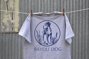 Bayou Dog T-Shirt (Sport Gray) - The Louisiana Catahoula Catalog, Inc. Bayou Dog T-Shirt (Sport Gray) - The Catahoula Shop