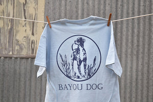 Bayou Dog T-Shirt (Light Blue) - The Louisiana Catahoula Catalog, Inc. Bayou Dog T-Shirt (Light Blue) - The Catahoula Shop