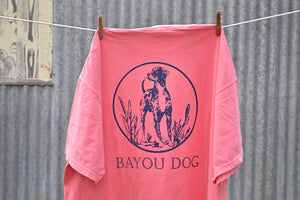 Bayou Dog T-Shirt (Watermelon) - The Louisiana Catahoula Catalog, Inc. Bayou Dog T-Shirt (Watermelon) - The Catahoula Shop
