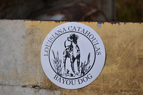 Bayou Dog Sticker - The Louisiana Catahoula Catalog, Inc. Bayou Dog Sticker - The Catahoula Shop