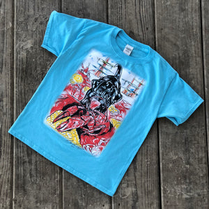 Kids Catahoula Crawfish T-Shirt (Sky) - The Louisiana Catahoula Catalog, Inc. Kids Catahoula Crawfish T-Shirt (Sky) - The Catahoula Shop