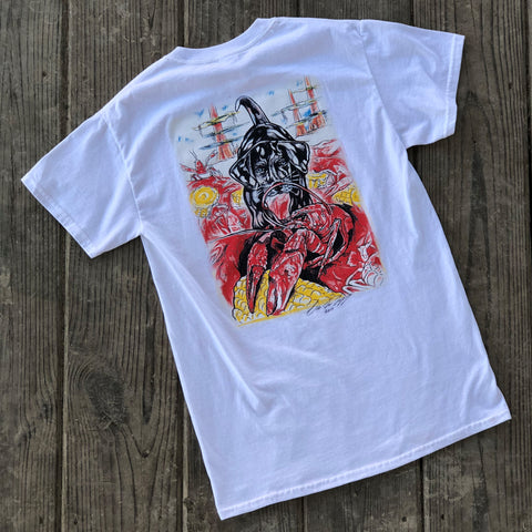 Catahoula Crawfish T-Shirt (White) - The Louisiana Catahoula Catalog, Inc. Catahoula Crawfish T-Shirt (White) - The Catahoula Shop