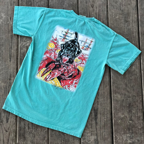 Catahoula Crawfish T-Shirt (Chalky Mint) - The Louisiana Catahoula Catalog, Inc. Catahoula Crawfish T-Shirt (Chalky Mint) - The Catahoula Shop