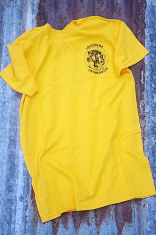 NALC Logo T-Shirt (Gold) - The Louisiana Catahoula Catalog, Inc. NALC Logo T-Shirt (Gold) - The Catahoula Shop