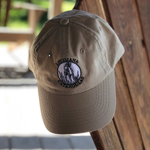 Bayou Dog Logo Hat (Tan) - The Louisiana Catahoula Catalog, Inc. Bayou Dog Logo Hat (Tan) - The Catahoula Shop