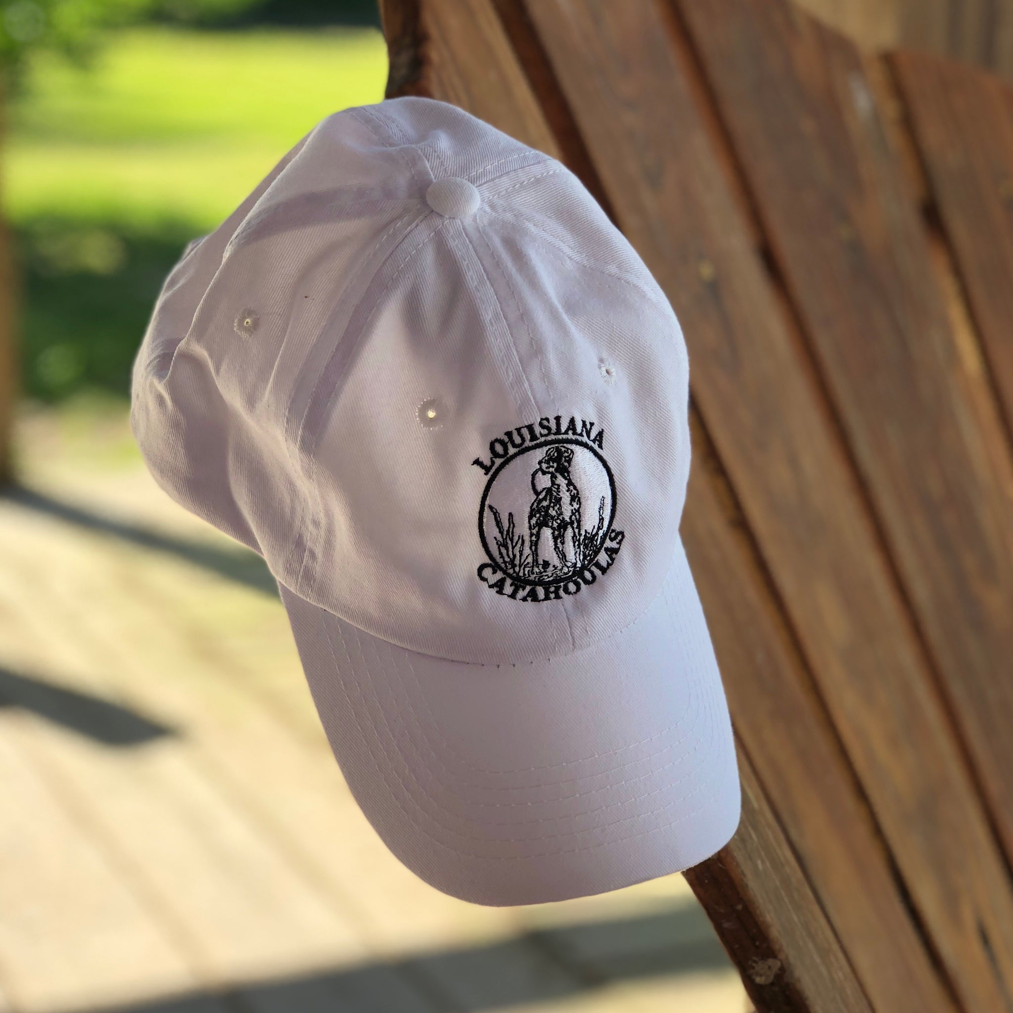 Bayou Dog Logo Hat (White) - The Louisiana Catahoula Catalog, Inc. Bayou Dog Logo Hat (White) - The Catahoula Shop
