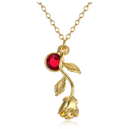 Rose Birthstone Necklace - AESTHEDEX