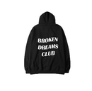 Broken Dreams Club Black Hoodie - AESTHEDEX
