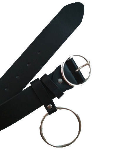 Ring Buckle Leather Belt - AESTHEDEX