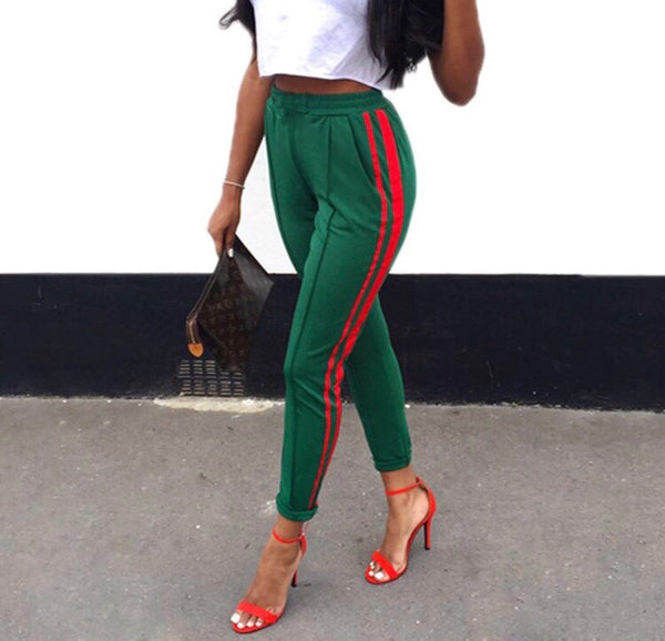 Gucci Green Trousers - AESTHEDEX