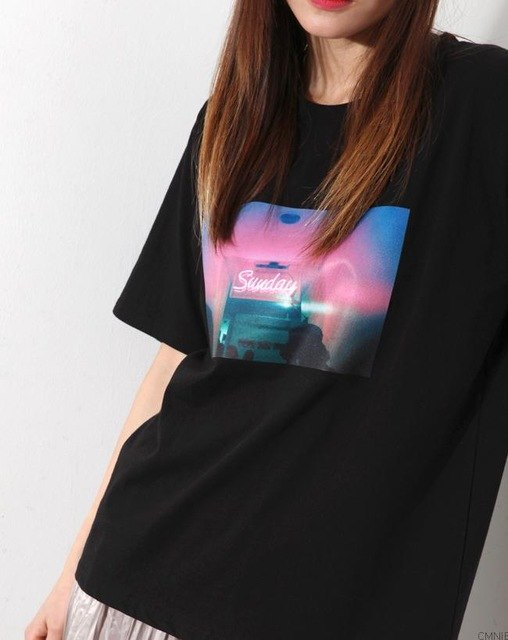 Neon Sunday Tumblr T-Shirt - AESTHEDEX