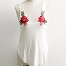 Sexy Rose Embroidery Tank Top - AESTHEDEX