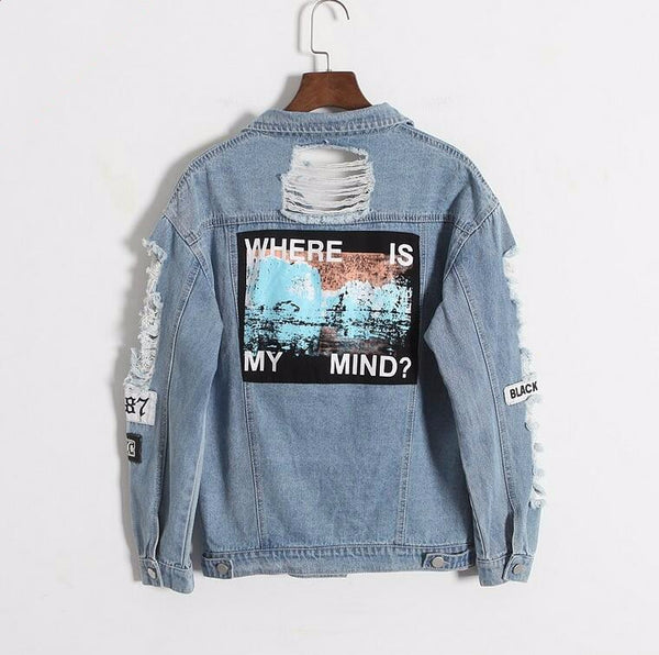 Where Is My Mind? Denim Jacket - AESTHEDEX