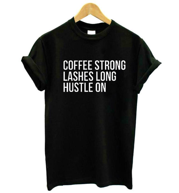 Coffee, Lashes, Hustle T-Shirt - AESTHEDEX
