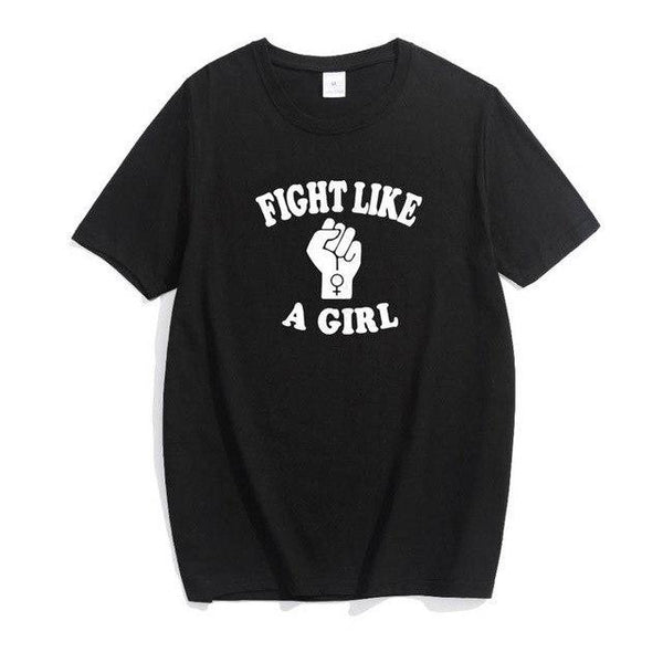 Fight Like A Girl T-Shirt - AESTHEDEX