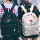 Rose Embroidery Backpack - AESTHEDEX