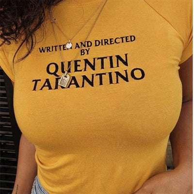 Written and Directed by Quentin Tarantino Cropped Tee - AESTHEDEX