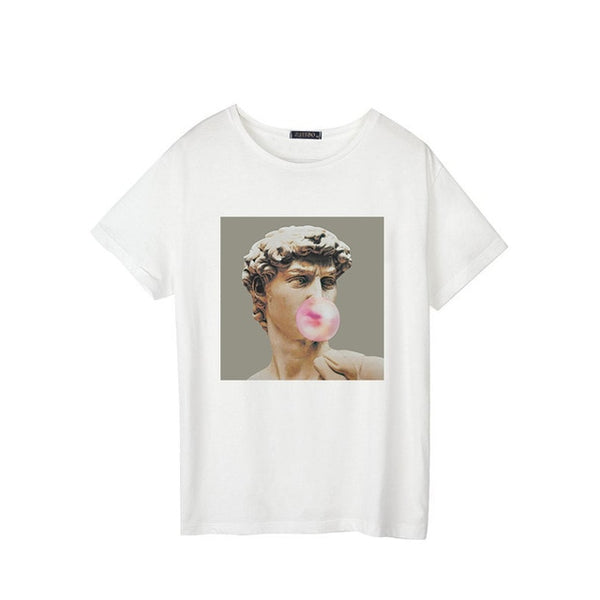 Bubblegum David Graphic Tee - AESTHEDEX