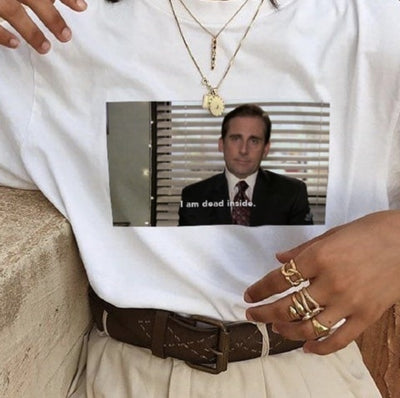 "Michael Scott ""I Am Dead Inside"" T-Shirt - AESTHEDEX"