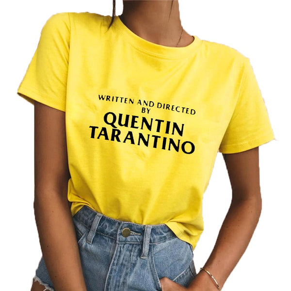 WRITTEN AND DIRECTED BY QUENTIN TARANTINO TEE - AESTHEDEX