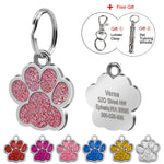 Personalized Glitter Paw