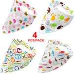 4pcs/lot Pet Bandanas