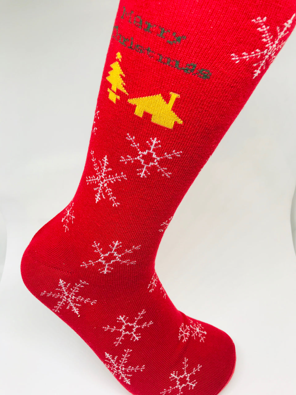 Merry Christmas Snowflakes Sock