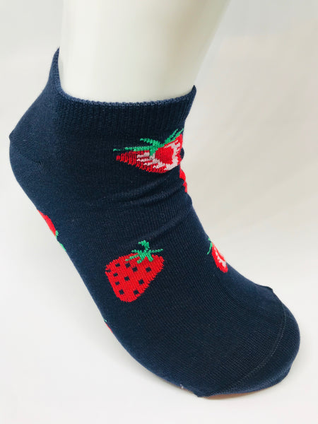 Strawberry Low Sock