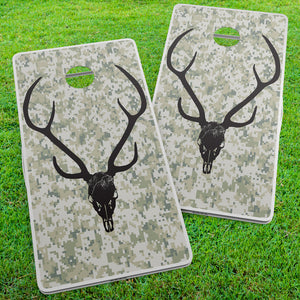 Axis Deer Skull Cornhole Wraps