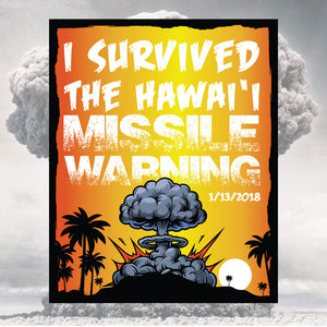 I Survived the Hawaii Missile Warning Sticker