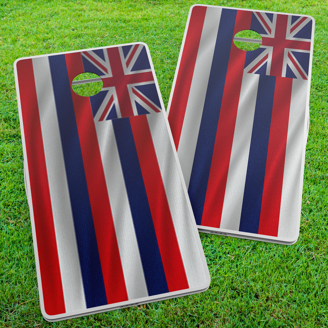 Hawaiian Flag Cornhole Wraps