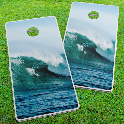 Jaws Surfer Cornhole Wraps