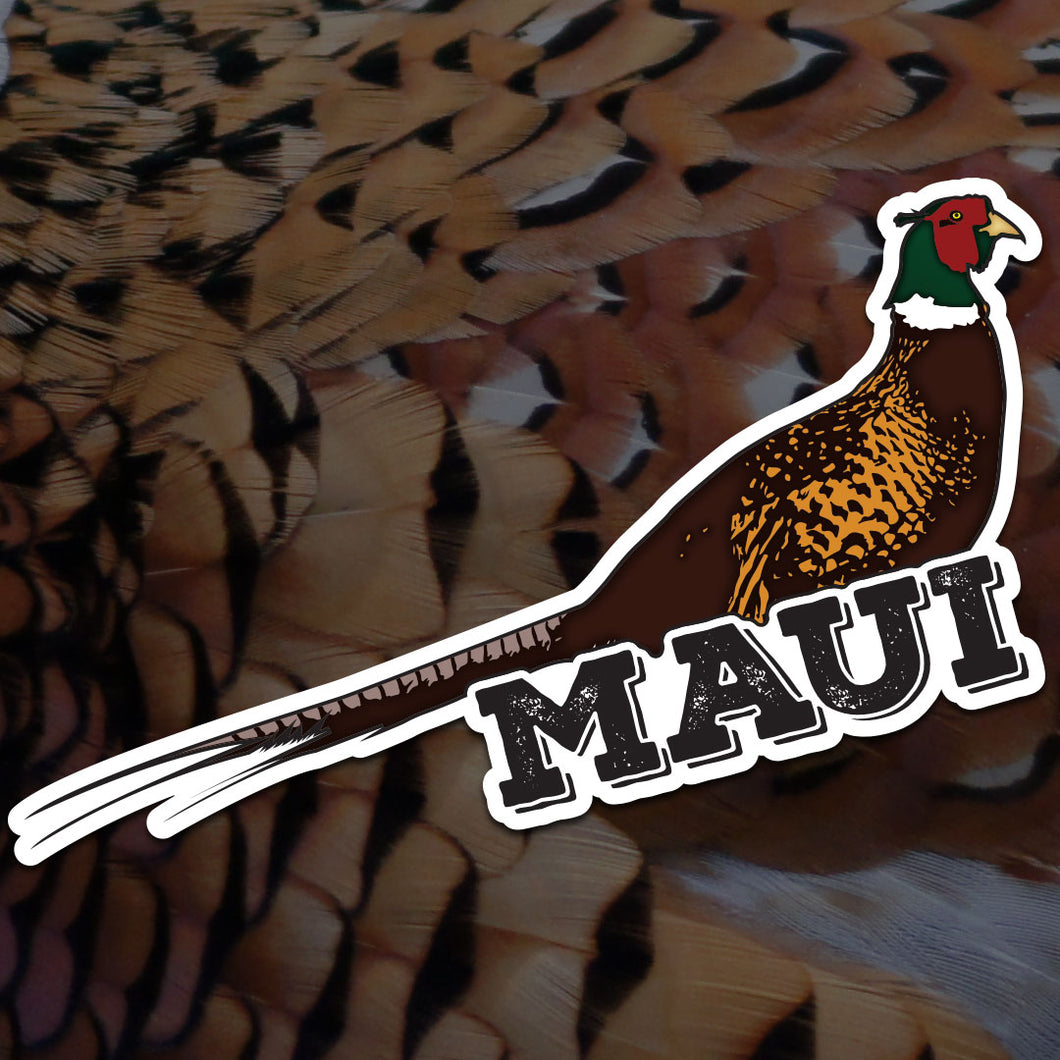 Maui Pheasant Sticker