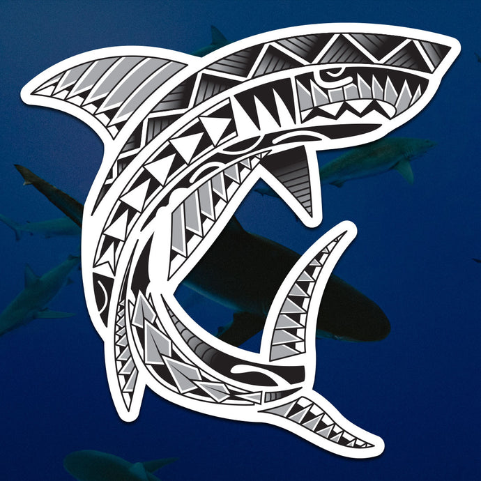 Polynesian Shark Sticker