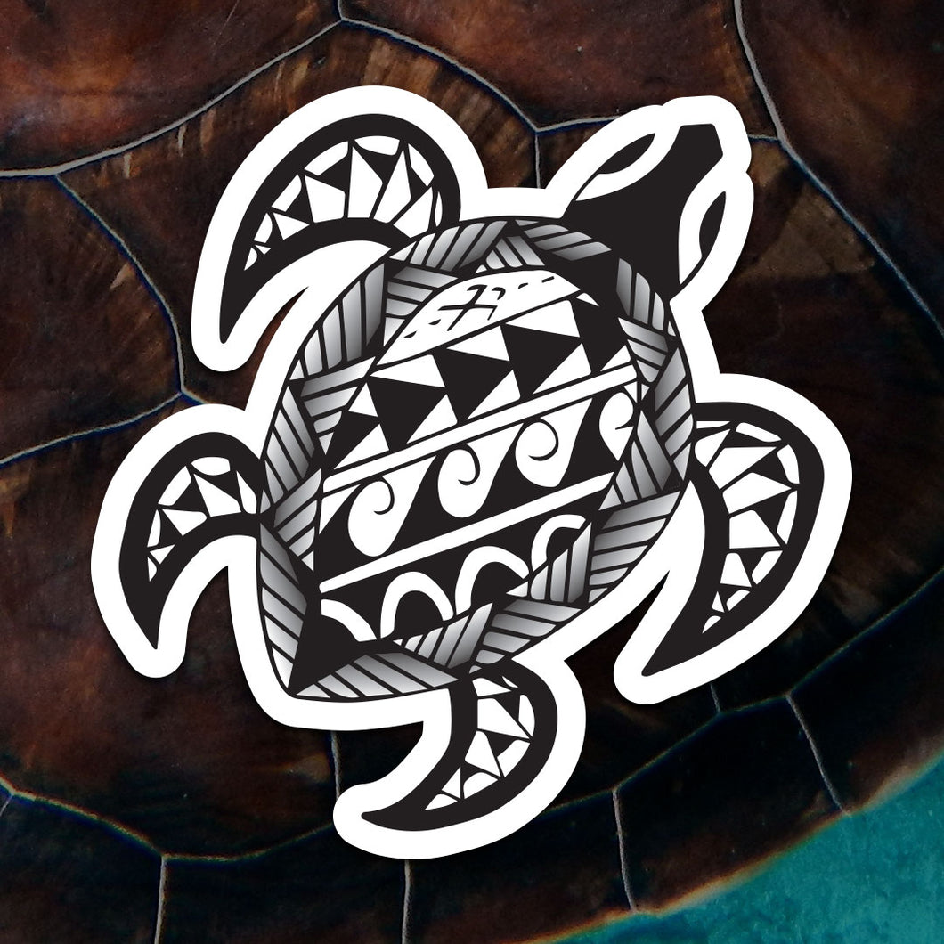 Polynesian Turtle Sticker