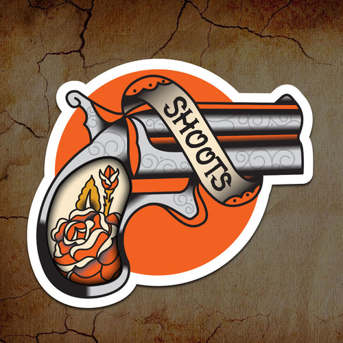 Shoots Gun Sticker