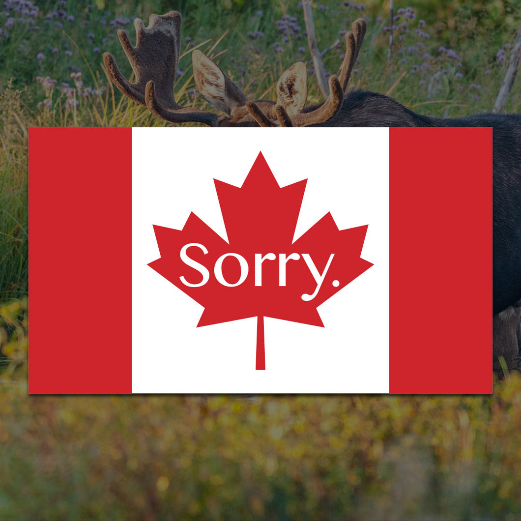 Sorry Canada Flag Sticker