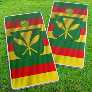 Hawaiian Sovereign Nation Flag Cornhole Wraps