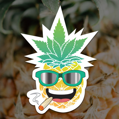 Maui Wowie Pineapple Sticker