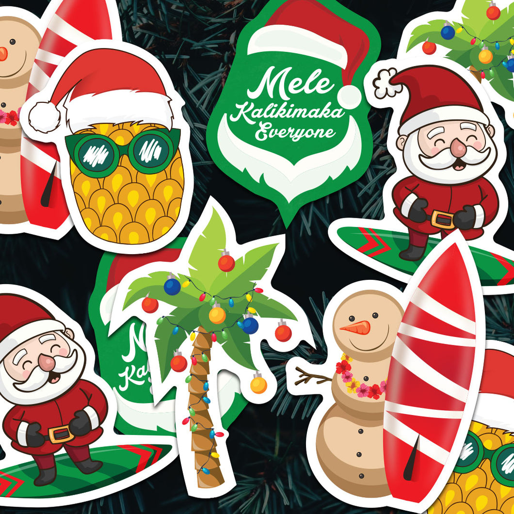 Hawaiian Christmas Sticker Bomb Pack